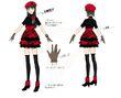 P4D Official Visual Visual Book Original Stage Costume for Yukiko