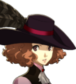 P5 portrait of Haru Okumura's phantom thief outfit without mask