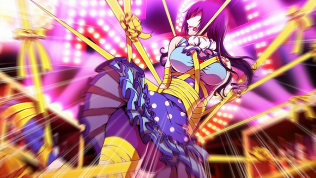 File:P4D story mode Tomoe Sayama trapped in one of the stages.png