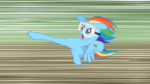 640px-Rainbow Dash about to kick the old barn S2E03