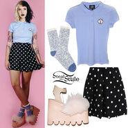 Melanie-martinez-blue-polo-shirt