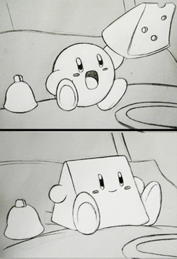 I know Kirby ate a cheese