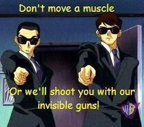 Invisible guns