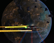 Bajor fighting Orions over Dreon VII 2