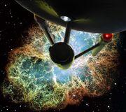 Enterprise NCC-1701 LeavingNebula