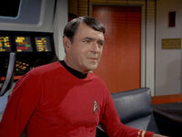 Scotty in command, A Taste of Armageddon