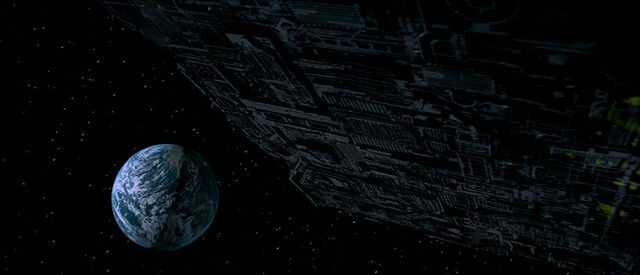 File:Borg cube approaches Earth.jpg