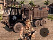 Archer Guntruck Front On Foot