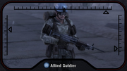 Allied Soldier with an LMG