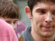 Colin Morgan and Alfie Stewart Behind The Scenes Series 5-2