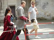 Angel Coulby and Tom Hopper Behind The Scenes Series 5
