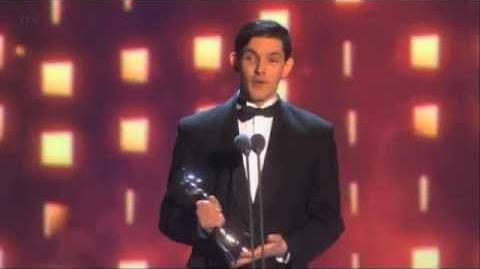 Merlin S5 Colin Morgan wins the 2013NTAs for 'Best Drama Performance (Male)'