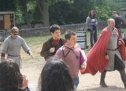 Bradley James and Colin Morgan Behind The Scenes Series 4