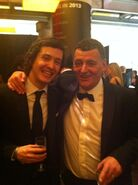 Alex and steven moffat at NTA's