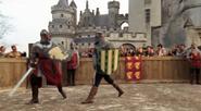 Arthur fighting a random opponent