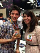 Colin Morgan and A Fan Comic Con 2012