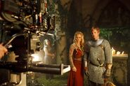 Emilia Fox and Bradley James Behind The Scenes Series 2