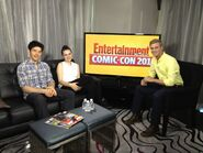 Colin Morgan and Katie McGrath at Comic Con 2012 an Entertainment Weekly-1