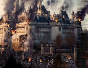 Merlin bbc season 3 camelot citadel burning siege