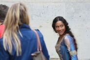 Angel Coulby Behind The Scenes Series 4