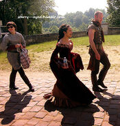 Alexander Vlahos and Angel Coulby Behind The Scenes Series 5