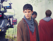 Colin Morgan Behind The Scenes Series 4