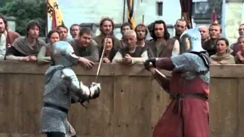 Duel between Arthur and Morgause