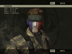 MGS3S - Snake French Face Camo