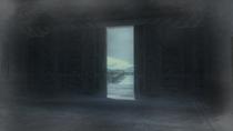 The front hangar door has been opened up (Metal Gear Solid 4)