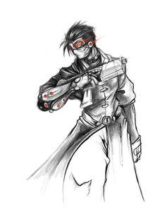 Cyborg merc by zombie ninja