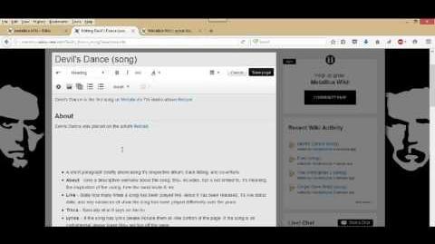 Metallica Wikia Song article formatting 1