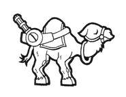 Camel Slug Chibi Artwork