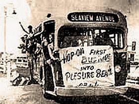 File:CR & L's INAUGURAL BUS (-13 SEAVIEW AVE.) TO PLEASURE BEACH - BPT. CT 1940s.jpg