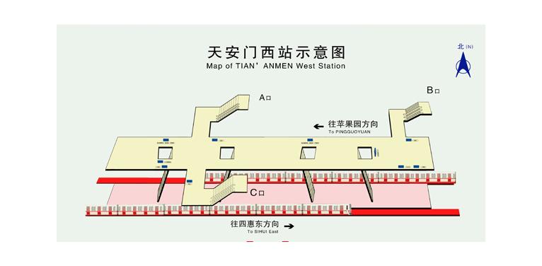 Tian'anmen West BJ map