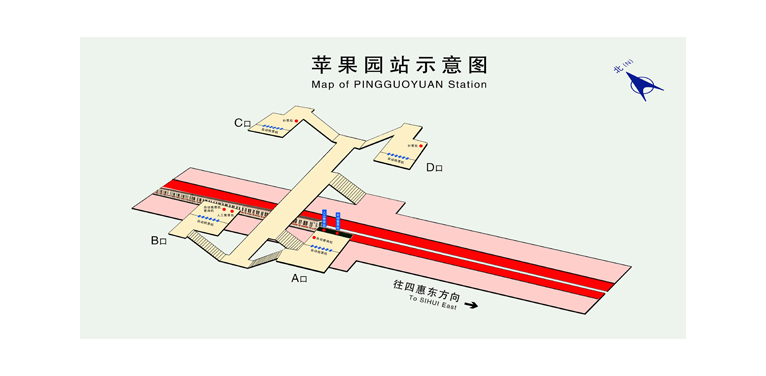 Pingguoyuan BJ map