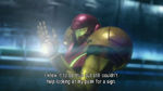 Baby's particles are no longer on Samus' hand