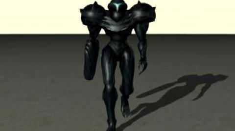 Dark Samus Walking animation