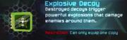 Explosive Decoy