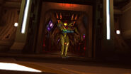 Samus enters Pyrosphere doorway HD