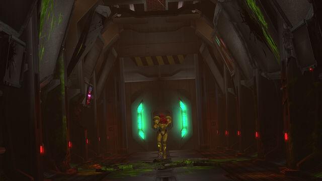 File:Samus enters Pyrosphere corridor HD.jpg