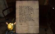 'Samus' note