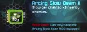 Arcing Slow Beam
