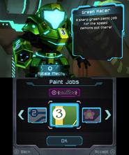 Green Racer Paint Job