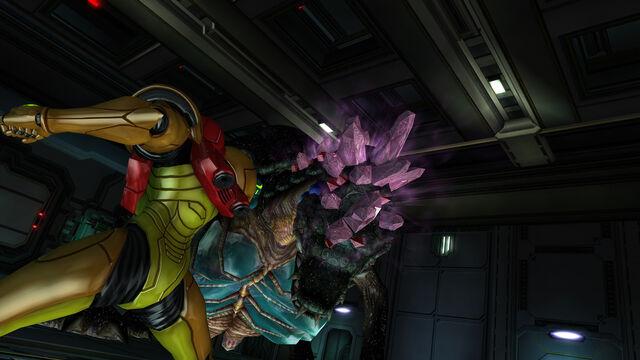 File:Samus faces Queen Metroid Room MW Bioweapon Research Centre HD.jpg