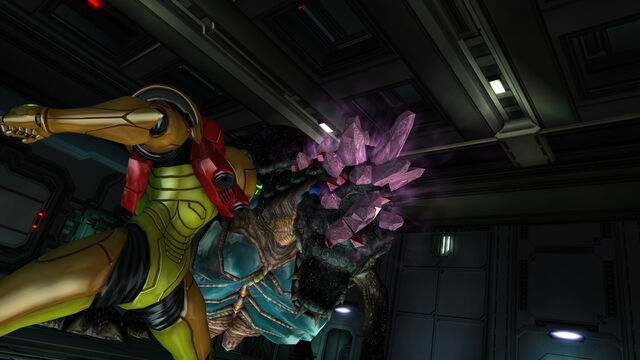 Файл:Samus faces Queen Metroid Room MW Bioweapon Research Centre HD.jpg