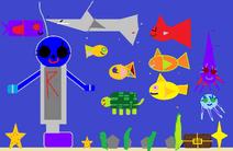 Underwater raven