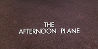 The Afternoon Plane
