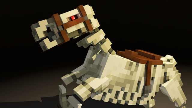 File:Skeleton horse in minecraft c4d renders by icrdr-d6ny49j.png