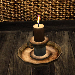 Candle in holder