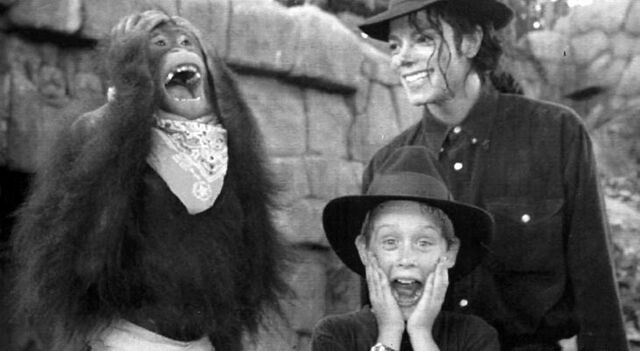 File:Michael and Macaulay with an orangutan.jpg